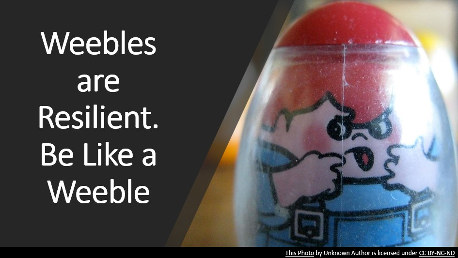 Weebles are Resilient. Be like a weeble.